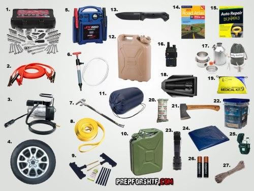 Kit Emergencia Para El Coche Ferrehogar