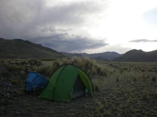 acampado cerca de Sta. Lucía