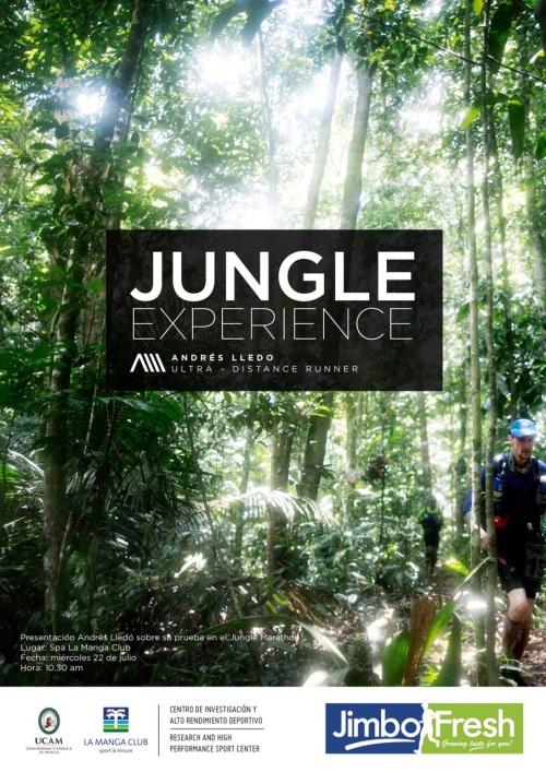 Presentación de Andrés Lledó sobre su prueba en el Jungle Marathon