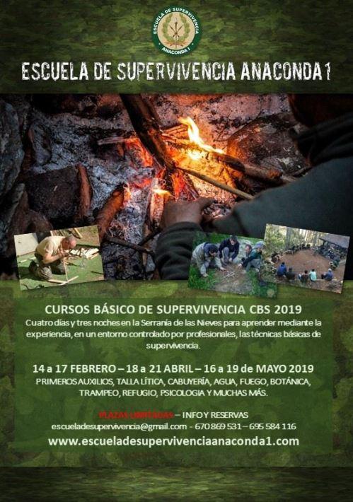 Cursos 2019 Escuela de supervivencia anaconda